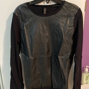 Vera Moda Sweater with Faux Leather